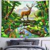 Hirsch und Wildtiere Wandbehang